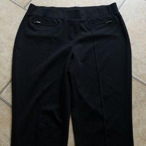 Rafealla black dress legging with pocket zippers